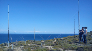 HF Radar's antennas system at Fisini site
