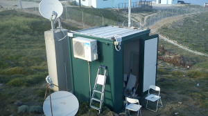 HF radar's container at Plaka