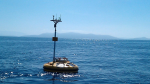 Wavescan buoy deployed off the Pylos coast (April 2013)