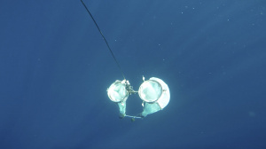 Plankton net in the water (Sep 2012)